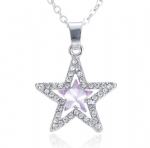 Pink Crystal Star Pendant